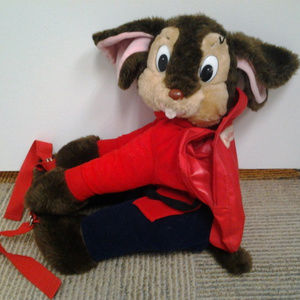 1986 An American Tail Fievel backpack